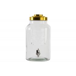 Dispensador de bebidas cristal con grifo para 8 litros .