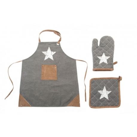 Pack Delantal moderno para cocina estrella