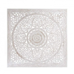 Mural tallada blanco rozado dm étnico redondo 120x120 cm