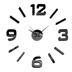 Reloj de pared eva negro 60x60 cm